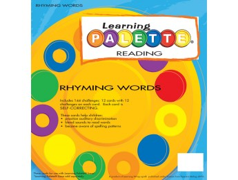 Kinder Reading Rhyming Words Front