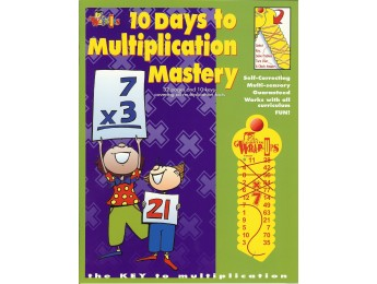 713 10 Days to Multiplication Mastery 32 pg workbook